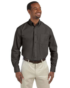 Dark Grey Men's Value Poplin