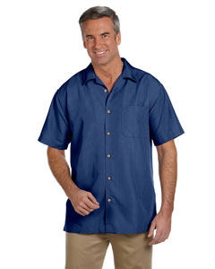 Pool Blue Men's Barbados Textured Camp Shirt