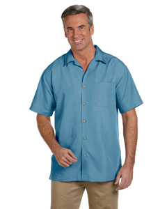 Cloud Blue Men's Barbados Textured Camp Shirt