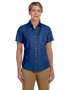 Pool Blue Women's Barbados Textured Camp Shirt