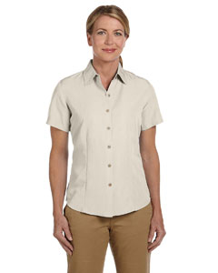 Creme Women's Barbados Textured Camp Shirt