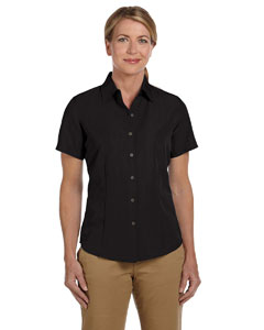 Black Women's Barbados Textured Camp Shirt