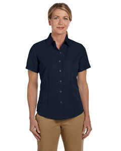 Navy Women's Barbados Textured Camp Shirt