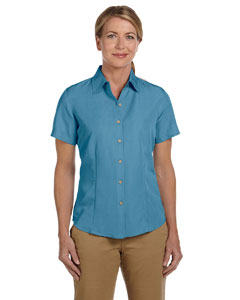 Cloud Blue Women's Barbados Textured Camp Shirt