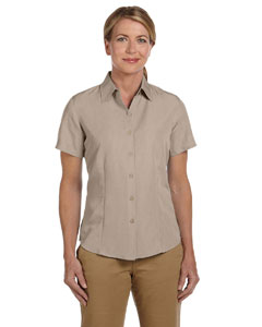 Khaki Women's Barbados Textured Camp Shirt