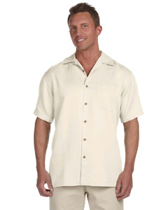 Creme Men's Bahama Cord Camp Shirt