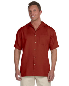 Tile Red Men's Bahama Cord Camp Shirt