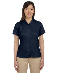 Navy Women's Bahama Cord Camp Shirt