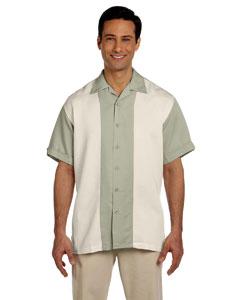 Green Mist/creme Two-Tone Bahama Cord Camp Shirt