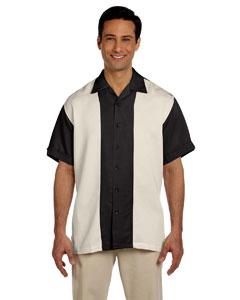 Black/creme Two-Tone Bahama Cord Camp Shirt
