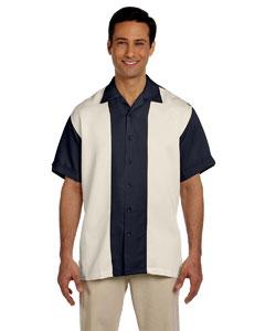 Navy/creme Two-Tone Bahama Cord Camp Shirt