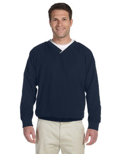 Navy/white Microfiber Wind Shirt