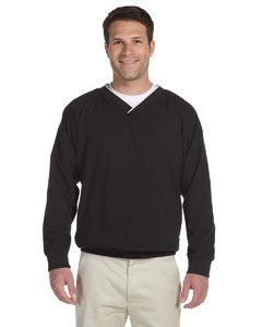 Black/white Microfiber Wind Shirt