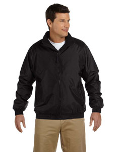 Black/black Fleece-Lined Nylon Jacket