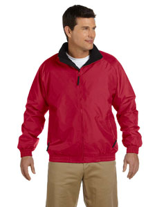 Red/black Fleece-Lined Nylon Jacket