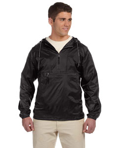 Black Packable Nylon Jacket