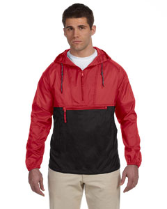 Red/black Packable Nylon Jacket
