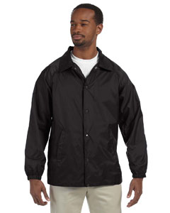Black Nylon Staff Jacket