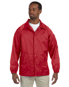 Red Nylon Staff Jacket
