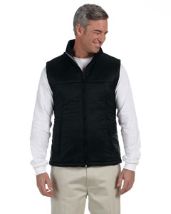 Black Men's Essential Polyfill Vest