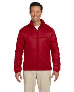 Red Men's Essential Polyfill Jacket