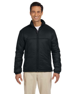 Black Men's Essential Polyfill Jacket
