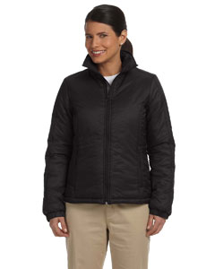 Black Women's Essential Polyfill Jacket