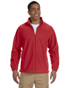 Red Men's Full-Zip Fleece