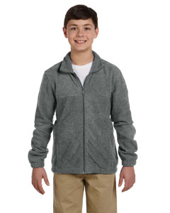 Charcoal Youth 8 oz. Full-Zip Fleece