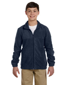 Navy Youth 8 oz. Full-Zip Fleece