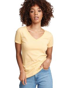 Banana Cream Ladies Ideal V-Neck Tee