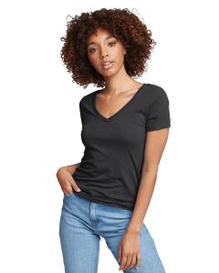 Dark Gray Ladies Ideal V-Neck Tee