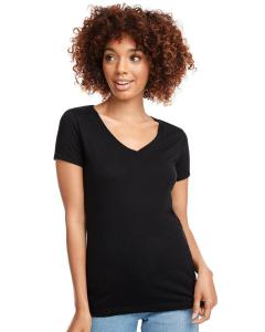 Black Ladies Ideal V-Neck Tee