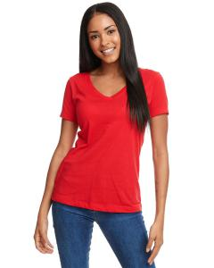 Red Ladies Ideal V-Neck Tee