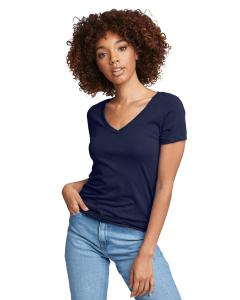 Midnight Navy Ladies Ideal V-Neck Tee
