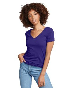 Purple Rush Ladies Ideal V-Neck Tee