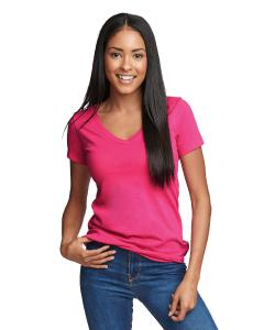 Raspberry Ladies Ideal V-Neck Tee