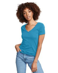 Turquoise Ladies Ideal V-Neck Tee