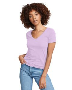 Lilac Ladies Ideal V-Neck Tee