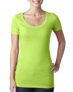 Neon Green Ladies Scoop Neck Tee