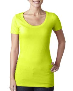 Neon Yellow Ladies Scoop Neck Tee