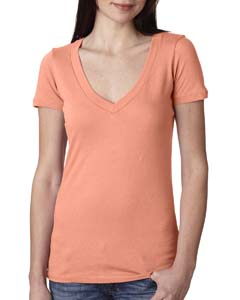 Light Orange Ladies Deep V-Neck Tee