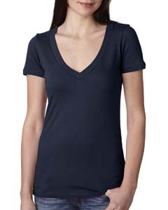 Midnight Navy Ladies Deep V-Neck Tee