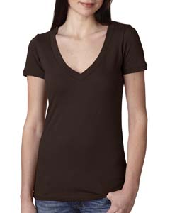 Dark Chocolate Ladies Deep V-Neck Tee