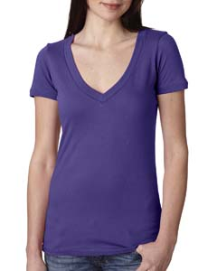 Purple Rush Ladies Deep V-Neck Tee