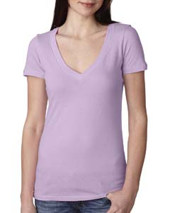 Lilac Ladies Deep V-Neck Tee