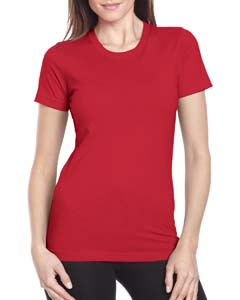 Red Ladies Boyfriend Tee
