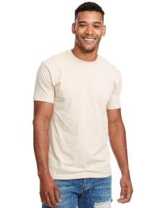 Cream Men's Premium Fitted CVC Crew Tee