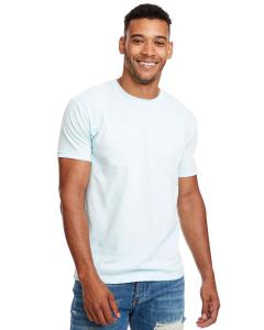 Ice Blue Men's Premium Fitted CVC Crew Tee