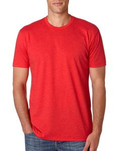 Red Men's Premium Fitted CVC Crew Tee